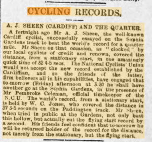 Jack Sheen set world records in Cardiff
